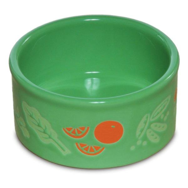 Ceramic Bird Cage Crock Veggie Dish by Prevue Green 8 oz