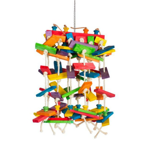 Bodacious Bird Toy for Large Parrots - Waterfall