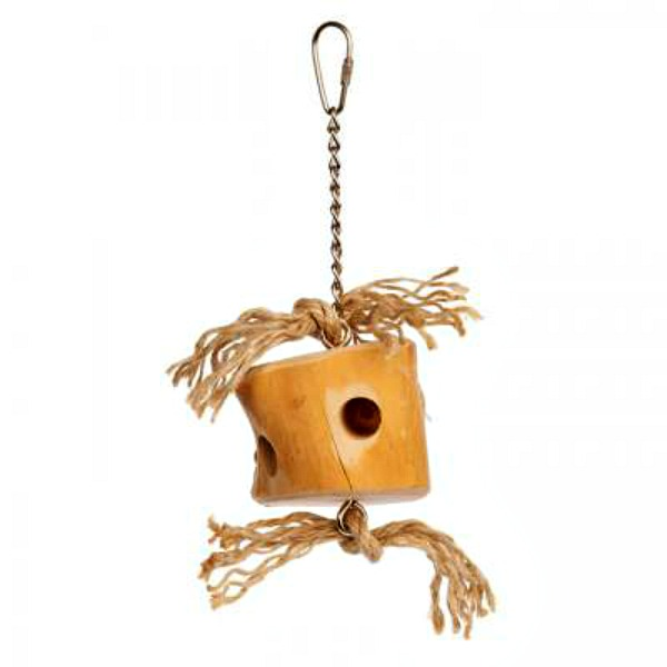 Prevue Naturals Bird Toy for Medium Parrots - Wood Cheese