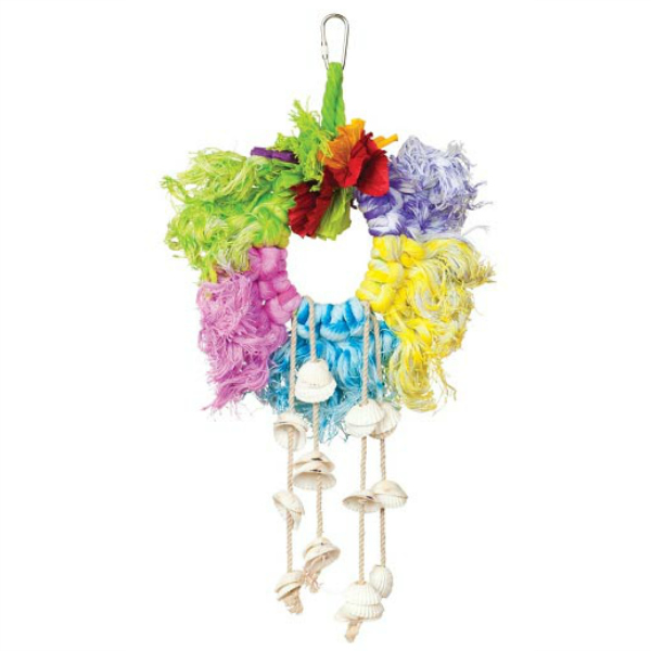 Calypso Creations Bird Toy by Prevue - Rope and Shell Ring