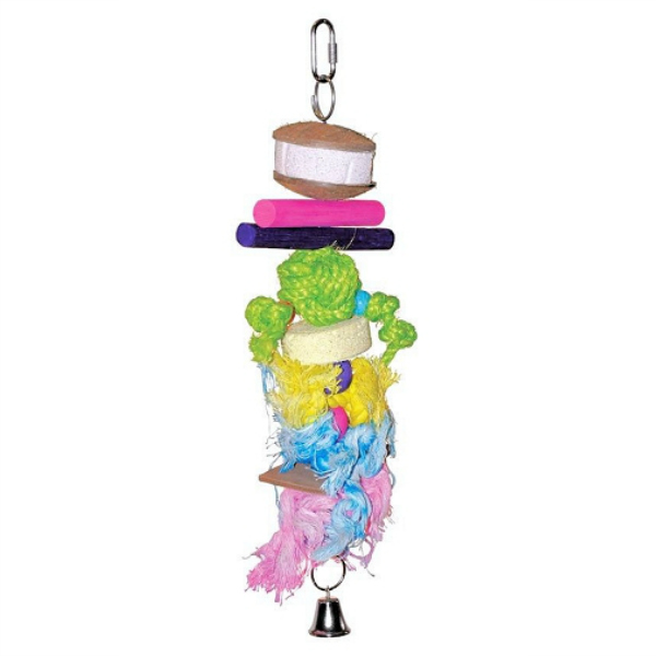 Bodacious Bird Toy for Medium Parrots - Mineral