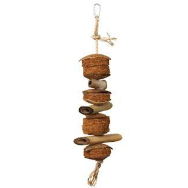 Naturals by Prevue Foraging Toy - Coconut And Bamboo