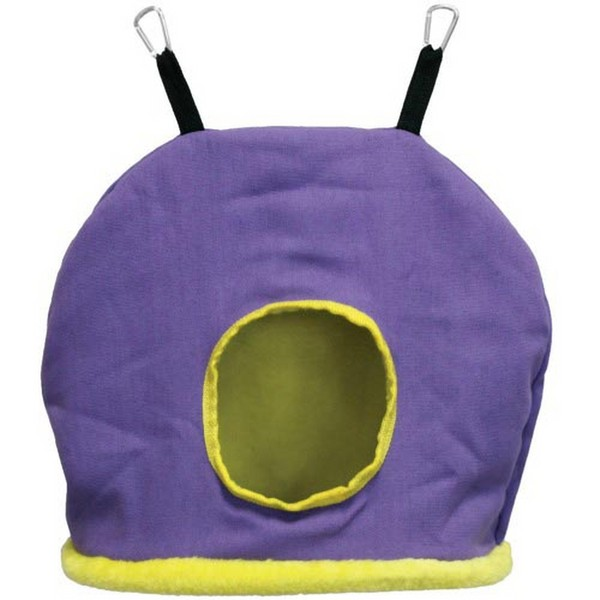 Warm Snuggle Sack for Birds by Prevue Jumbo Purple