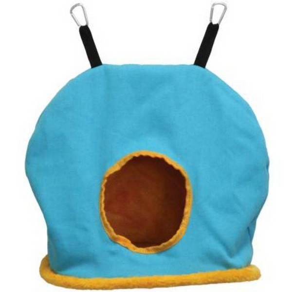 Warm Snuggle Sack for Birds by Prevue Jumbo Blue