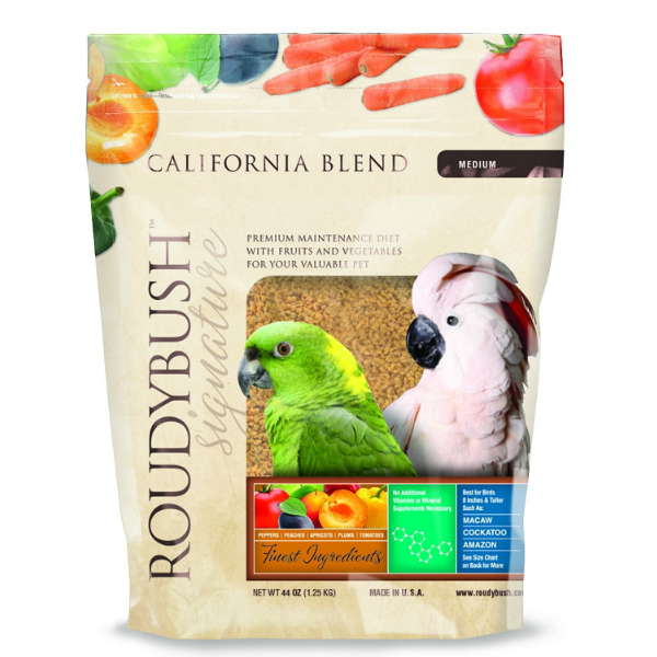 Roudybush California Blend Bird Food Pellets Medium 44 oz (1.25 kg)