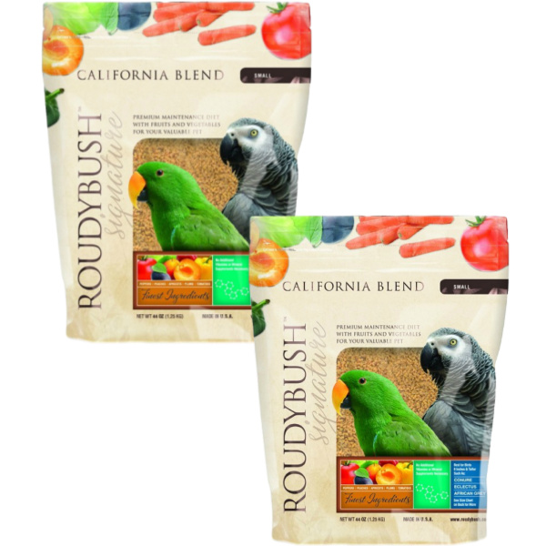2 PACK Roudybush California Blend Bird Food Pellet Small 44 oz