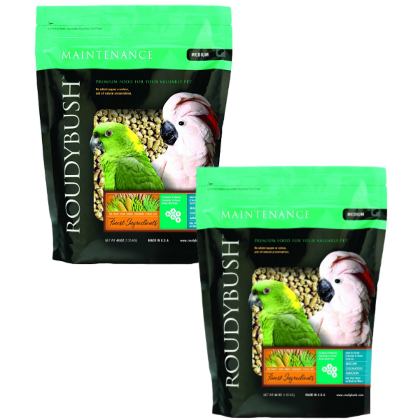 2 PACK Roudybush Daily Maintenance Bird Pellets Medium 44 oz