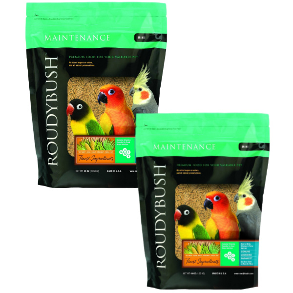 2 PACK Roudybush Daily Maintenance Bird Pellets Mini 44 oz