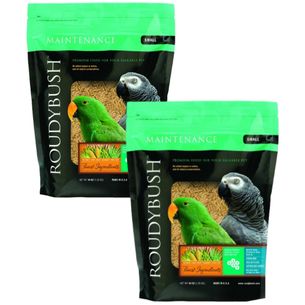 2 PACK Roudybush Daily Maintenance Bird Pellets Small 44 oz