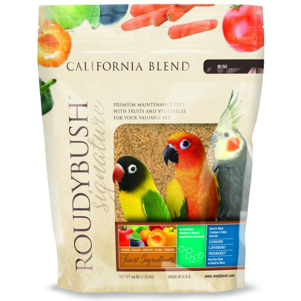 Roudybush California Blend Bird Food Pellets Mini 44 oz (1.25 kg)