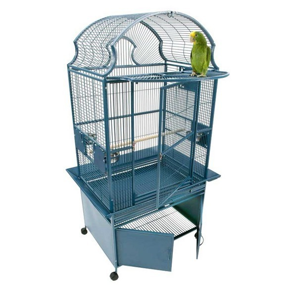 Elegant Top Bird Cage & Storage Base Cabinet by AE 36x28 Black
