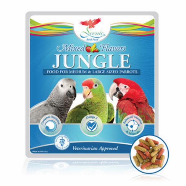 Scenic Jungle Mix Parrot Food Pellets 2 Lb (.9 Kg)