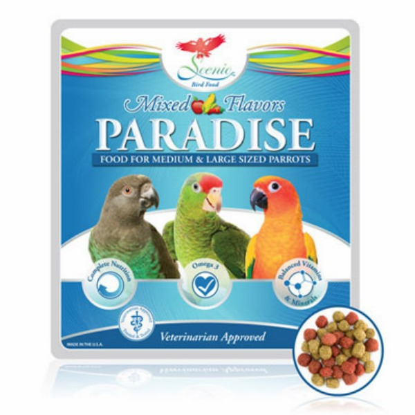 Scenic Paradise Mix Parrot Food Pellets 2 Lb (.9 Kg)