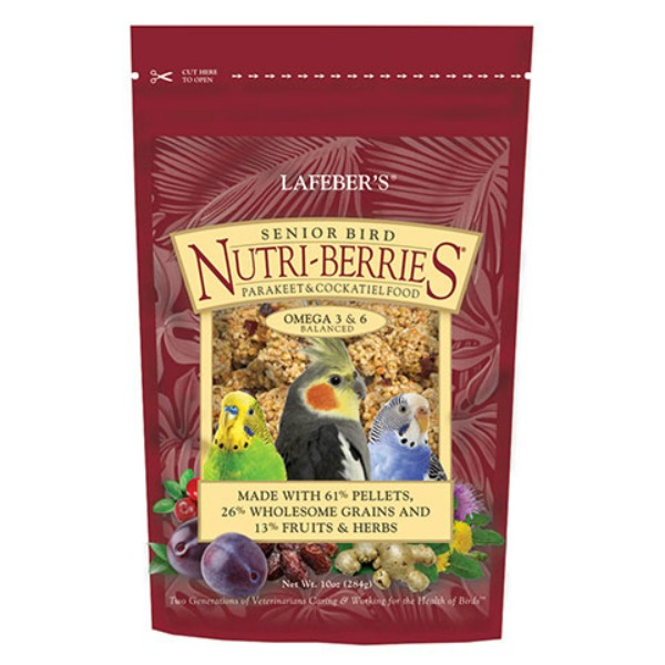 Lafebers Senior Bird Nutri-berries Parakeet Cockatiel 10 oz (234 G)