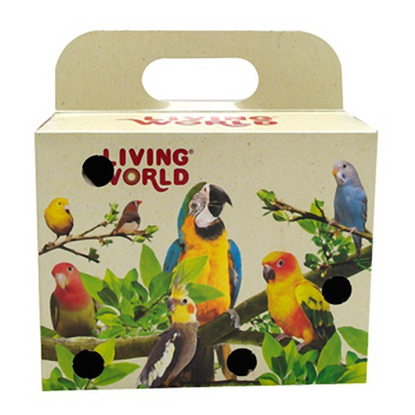 Cardboard Carry Box For Small Birds Canaries Parakeets 5x4