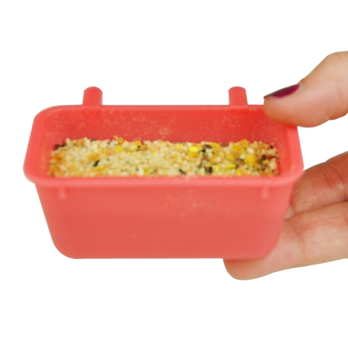 "Hook On Food Water Treat Dish for Small Birds 3"" 1 pc"