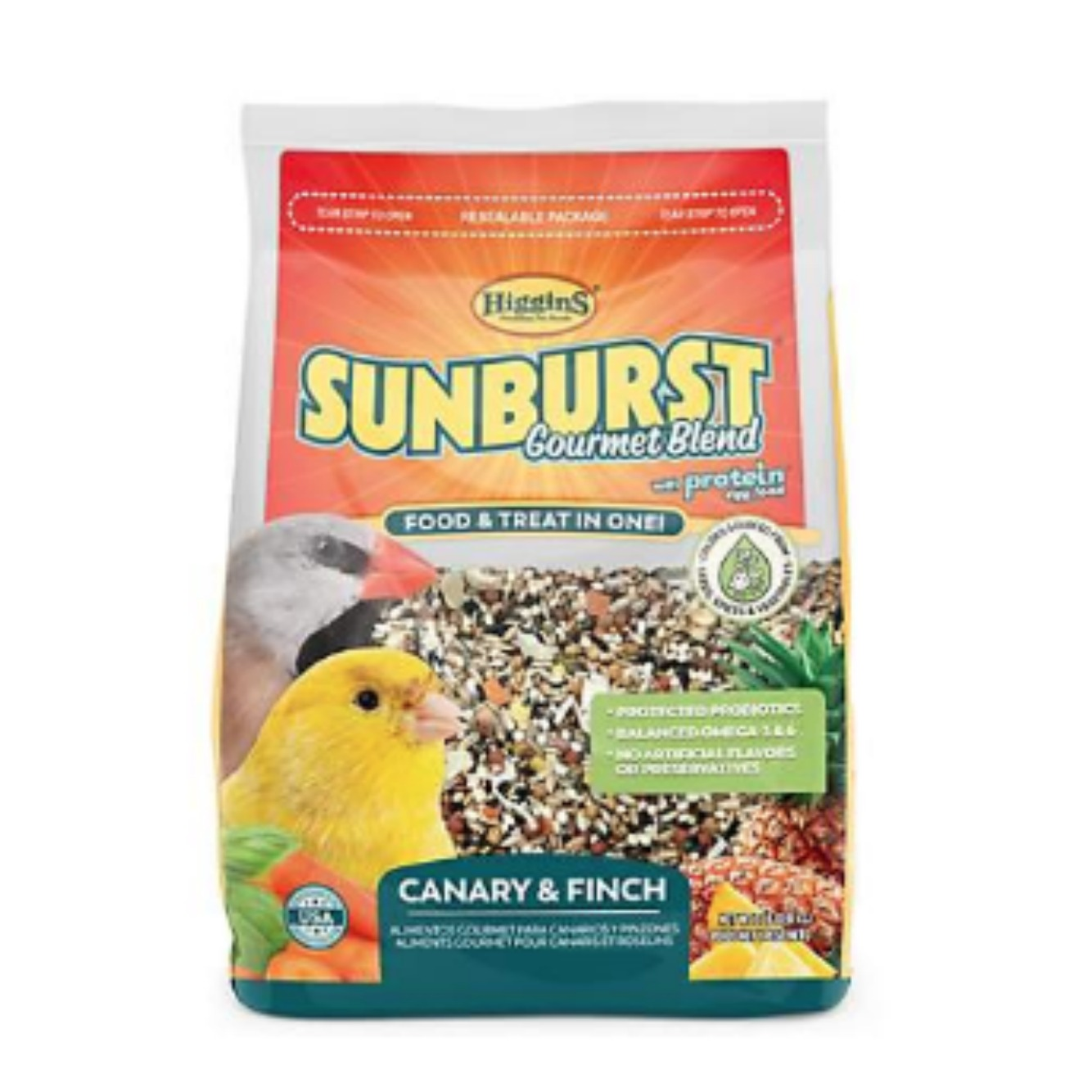 Higgins Sunburst Canary Finch Gourmet Bird Food 2 lb (1.36 Kg) NEW