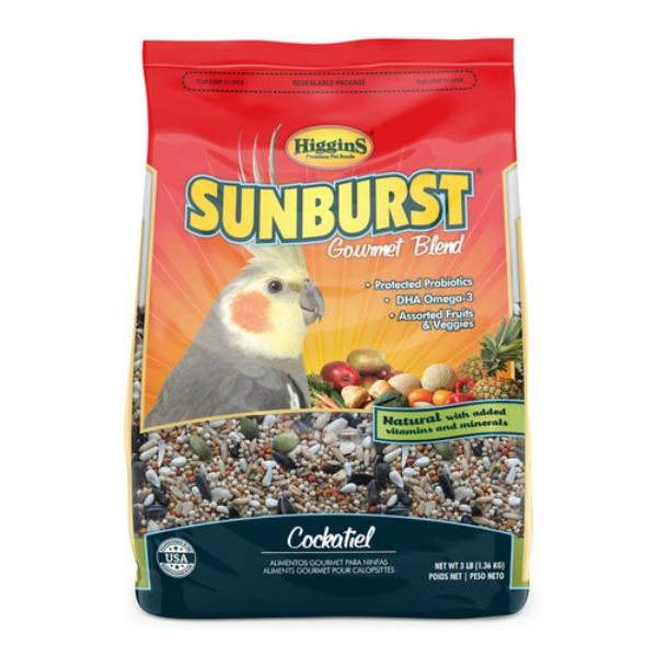 Higgins Sunburst Cockatiel Size Gourmet Bird Food 3 lb (1.361 kg)