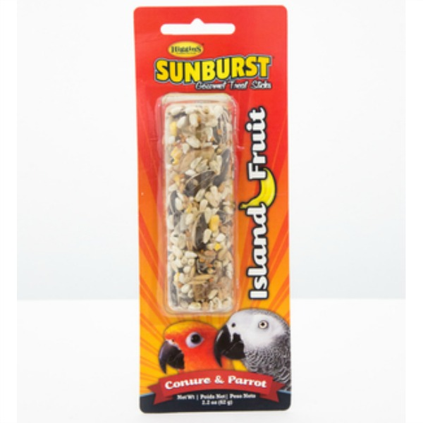 Higgins Sunburst Treat Stick for Large Parrots - Island Fruit