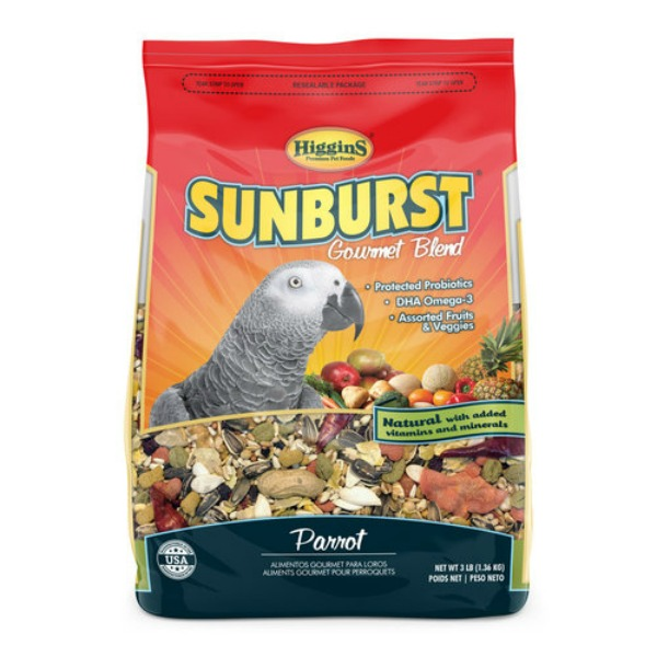 Higgins Sunburst Parrot Size Gourmet Bird Food 3 lb (1.361 kg)