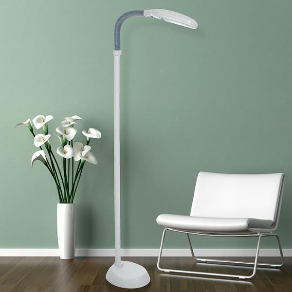 Full Spectrum Sunlite Cage Floor Lamp Birds Crafts White (Beige)