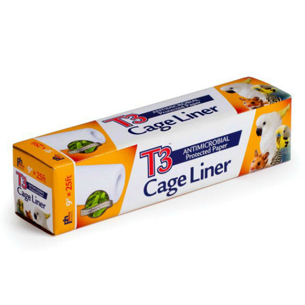 "T3 Bird Cage Liner Paper by Prevue 9"" x 25' Long"