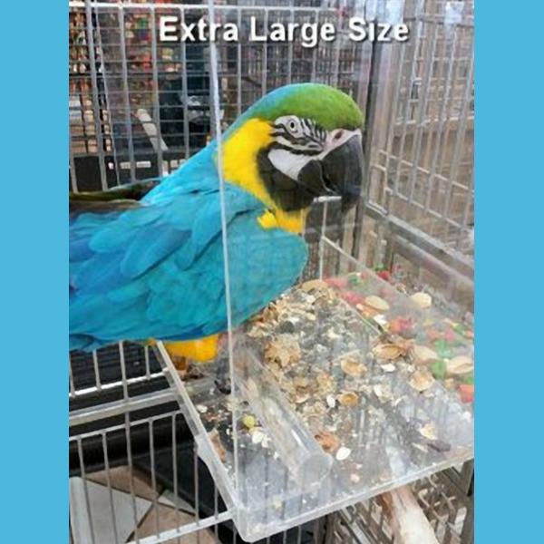 Tidy Seed Mess Less Pet Bird Feeder Extra Large