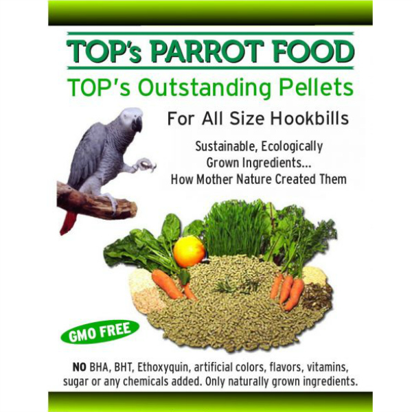 TOPS Bird Food Pellets for All Size Hookbills Parrots 4 lb (1.8 kg)