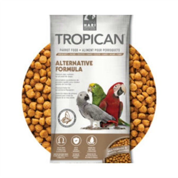 Hagen Tropican Alternative Parrot Granules NO Soy NO Corn 4 lb (1.8 kg)