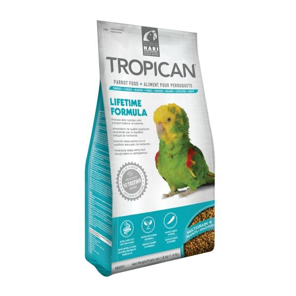 Tropican Lifetime Parrot Granules by Hagen Hari 4 lb (1.8 Kg)