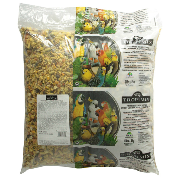Hagen Tropimix No Shell Formula For Large Parrots 20 lb (9.7 kg)