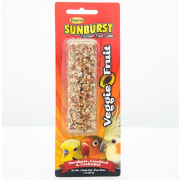 Higgins Sunburst Treat Stick for Small Parrots - Veggie Fruit