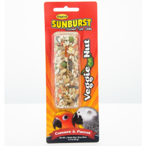 Higgins Sunburst Treat Stick for Large Parrots - Veggie Nut