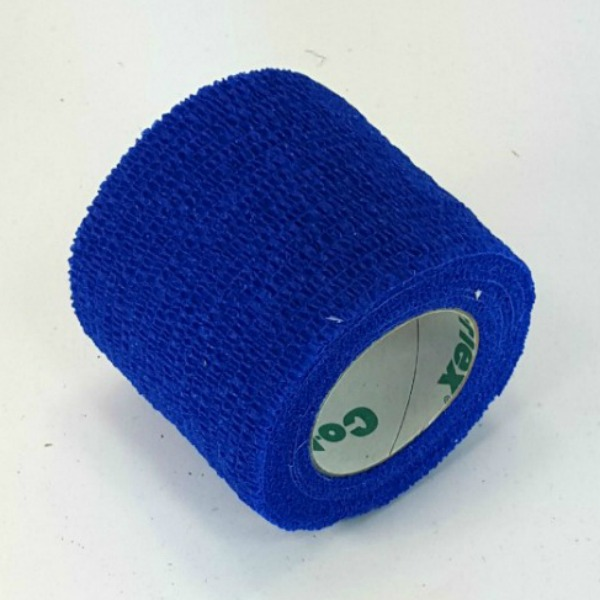 First Aid Self Adhering Tape Vet Wrap No Clips No Adhesive Blue