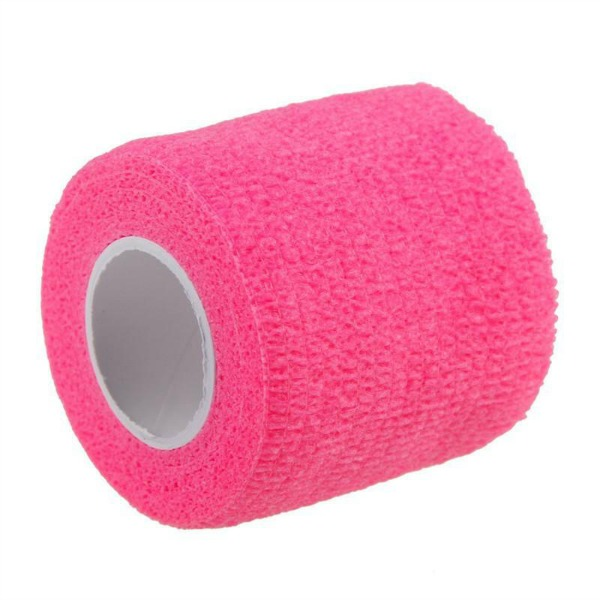 First Aid Self Adhering Tape Vet Wrap No Clips No Adhesive Pink
