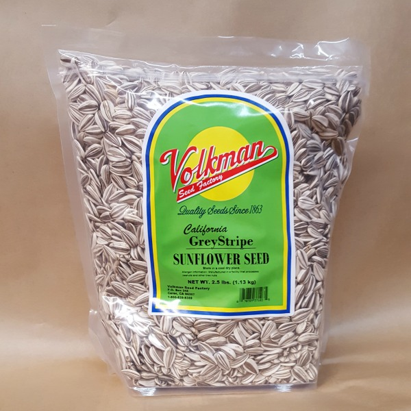 Volkman Seed Factory Grey Stripe Sunflower Seeds 2.5 lb