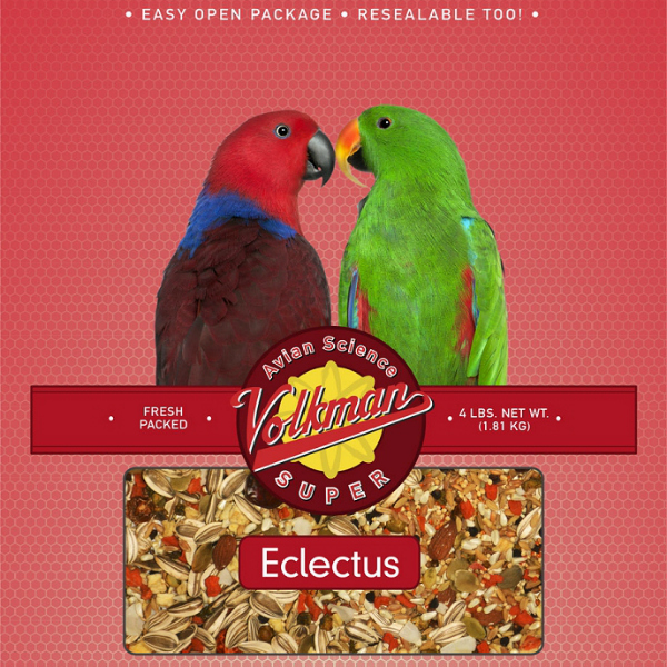 Volkman Avian Science No Vitamin Super Eclectus 4 lb (1.81 kg)