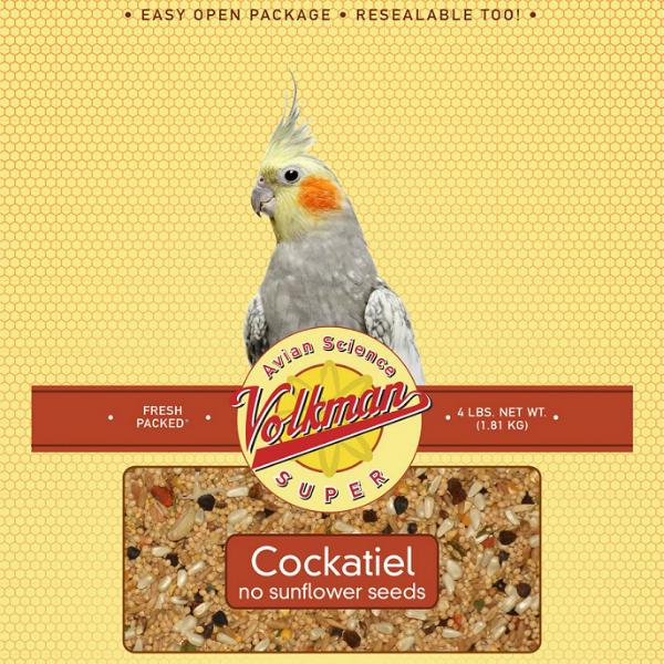 Volkman Avian Science Super Cockatiel No Sunflower Mix 4 Lb (1.81 Kg)