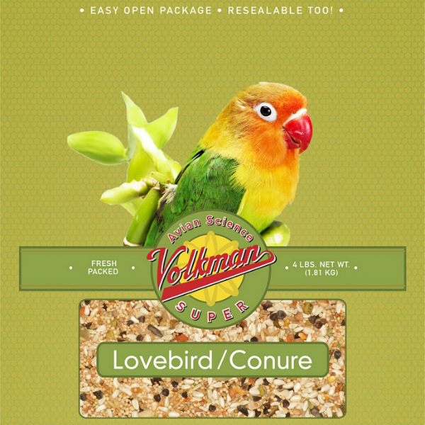 Volkman Avian Science Super Lovebird Conure Bird Seed 4 Lb (1.8 Kg)