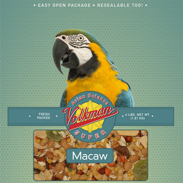 Volkman Avian Science Super Macaw NO SUNFLOWER 20 Lb (9.07 Kg)