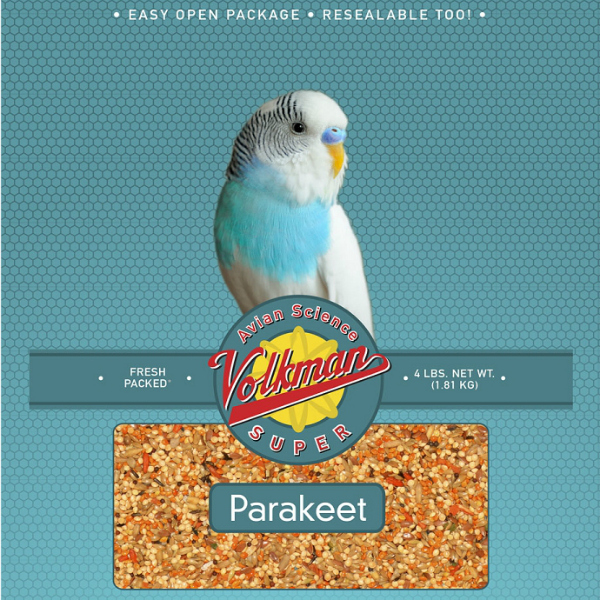 Volkman Avian Science Super Parakeet Bird Seed 4 Lb (1.81 Kg)