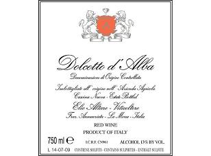 2012 Elio Altare Dolcetto d'Alba ($20) 89 points