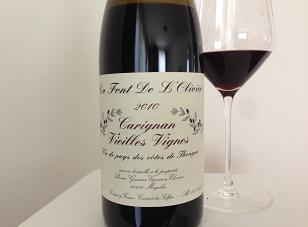 2010 La Font de L'Olivier Carignan Vieilles Vignes ($20) 90 points