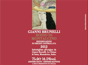 2012 Gianni Brunelli Rosso di Montalcino ($30.00) 90 points