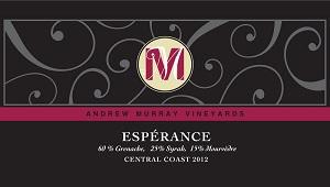 2012 Andrew Murray Esperance ($25) 90 points