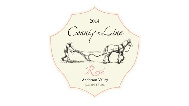 2014 County Line Vineyards Rosé Elke Home Ranch ($23) 89 points