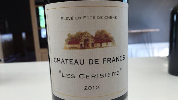 2012 Château de Francs Les Cerisiers ($12) 88 points