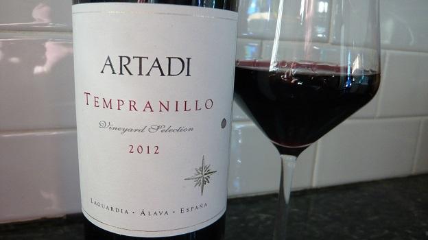 2012 Artadi Tempranillo ($18) 90 points