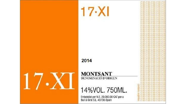 2014 Buil & Giné 17·XI ($21) 91 points