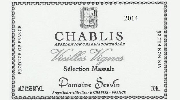 2014 Domaine Servin Chablis Vieilles Vignes Sélection Massale ($25.00) 91